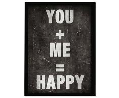 LO+DEMODA HCN2124-87 - Cuadro con marco, diseño You + me, 33 x 43 cm, multicolor