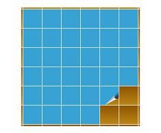 Adhesivo para azulejos para baño y cocina – 10 x 10 cm – Color Azul Mate – 160 adhesivos para azulejos para pared azulejos