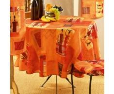 LHarmonie Du Décor - 2104351, Mantel Redondo , 180 Cm , Afrika , Poliéster Estampado , Naranja