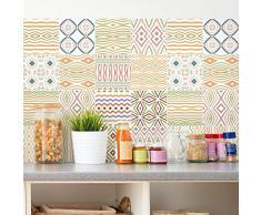 Ambiance Pegatinas de Azulejos Adhesivas - Adhesivo de Azulejos de Cemento - Decoración de Pared para baño y Cocina - 20 x 20 cm - 9 Piezas