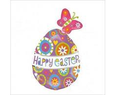 Amscan super/Bombilla de bajo consumo tipo globo de huevos de Pascua Happy diseño de mariposas