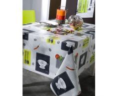 Calitex arte culinario mantel de hule rectangular PVC, pvc, gris, 200 x 140 cm