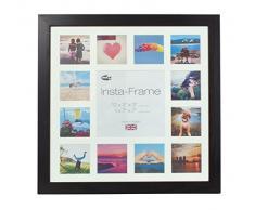 Inov8 16 x 40,64 cm Insta-Frame Kayla marco para Instagram 13/de estampado a cuadros de fotos con paspartú blanco y blanco con borde, negro