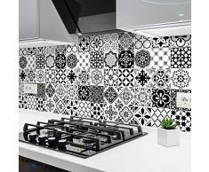 Ambiance-sticker Pegatinas de Azulejos Adhesivas - Pegatina de Azulejos de Cemento - Decoración de Pared para baño y Cocina - Azulejos de Cemento Adhesivo para Pared - 10 x 10 cm - 24 Unidades