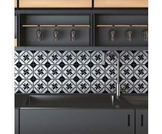 Ambiance Sticker Pegatinas de Azulejos Adhesivos, diseño de Azulejos de Cemento - Decoración de Pared para baño y Cocina - 10 x 10 cm - 9 Unidades