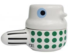 Melltorp Familie - Bol Doble (cerámica, Forma de cazuela, 8 x 10 cm, con Mango), Color Gris