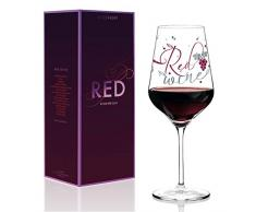 RITZENHOFF - Copa de vino tinto de Kathrin Stockebrand, de cristal, 580 ml, con finas piezas de platino