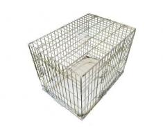 ellie-bo Deluxe extra fuerte 2 puerta plegable perro perrito de la jaula con cama de matrimonio oveja sintética pequeña