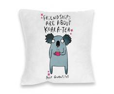 Katie Abey amistades son sobre koala-tea Impresión cojín, Multicolor