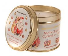 SEBNINI Santa Claus is Coming to Town - Vela aromática en lata de metal