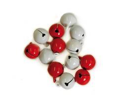 Campanas rojas y blancas