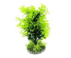Sourcingmap Plástico Acuario Planta Artificial Plantas/Grass Adornos, Verde