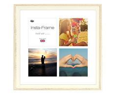 Inov8 16 x 40,64 cm Insta-Frame Austen Marco para Instagram 4/de Estampado a Cuadros de Fotos con paspartú Blanco y Blanco con Borde, de Color Blanco