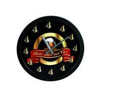 Out of the Blue 79/3116 - Reloj de pared (plástico), diseño con texto Kein Bier vor 4 (Nada de cerveza antes de las 4)