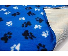 CRS Fur Fabrics Profesional Antideslizante Veterinaria Perro Cachorro Mascota Cama LG Paws-Royal Azul