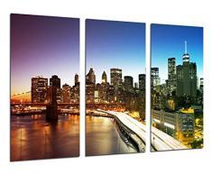 Poster Fotográfico Ciudad Nueva York Noche Tamaño total: 97 x 62 cm XXL