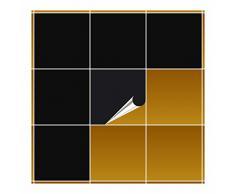 Adhesivo para azulejos para baño y cocina – 20 x 20 cm – Negro brillante – 20 adhesivos para azulejos para pared azulejos