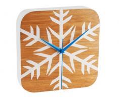 Karlsson KA5331 - Reloj de pared (22 x 22 x 6,5 cm), diseño de copo de nieve