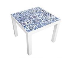 Walplus Océano Azul Azulejos Adhesivos de pared, vinilo, multicolor, 7.6 x 63.5 x 3cm