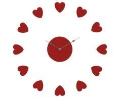 Premier Housewares DIY - Reloj de pared con forma de corazón, color rojo