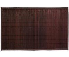 Gelco Design 705362 Okaido - Alfombrilla de baño (pequeñas láminas de bambú, 50 x 80 cm), color wengué