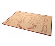 Lacor 66759 - Tapete de silicona impreso, 60 x 40 cm, marrón