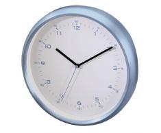 Hama AG-260 - Reloj de pared (AA, Azul, Color blanco, Aluminio, Vidrio)