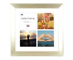 Inov8 16 x 40,64 cm Insta-Frame Marco para Instagram 4/de estampado a cuadros de fotos con paspartú blanco y blanco con borde, diseño de vasos de champán