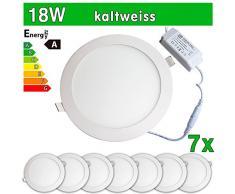 7 x Panel LED SMD 2835 LEDVero maikai 18 W redondo blanco frío de la lámpara luz de techo del punto