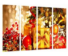 Poster Fotográfico Navidad, Adornos Navideños Arbol con Regalos, Colores Tamaño total: 131 x 62 cm XXL