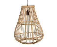 Dcasa Techo Bambú Lámparas ambientadoras Anillos de Bombilla Decoración del hogar Unisex Adulto, Color, única