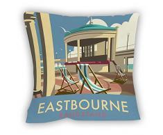 Dave Thompson Eastbourne Bandstand Impresión cojín, Multicolor