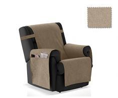 JM Textil Cubre sillón Pharma Tamaño 1 Plaza (55 Cm.), Color Visón