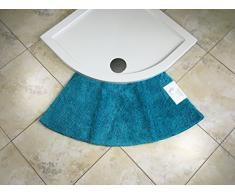 Cazsplash Luxus Quadrant - Alfombrilla de Ducha Curvada (tamaño pequeño), Microfibra, Azul Verdoso, Medium