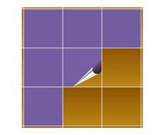 Adhesivo para azulejos para baño y cocina – 20 x 20 cm – Lavanda Mate – 10 adhesivos para azulejos para pared azulejos