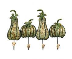 Carrick diseño Ganchos de Pared de Metal Arte Verduras, Multicolor, 45 x 31 cm