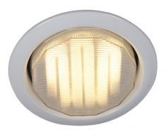 Naeve Leuchten 428623 - Foco de techo de bajo consumo (1 bombilla GX53, 7 W, diámetro del armazón de 10,5 cm, altura de 3,5 cm, metal), color blanco