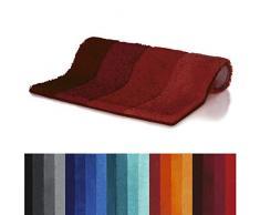 Spirella 60 x 90, Rojo colección Four, Alfombrilla de Ducha, 90% Polyester-10% Acrílico