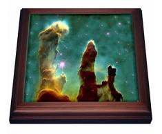 3dRose Impresión de Eagle Nebula en Espacio Exterior Remache azulejo, 8 por 8 Pulgadas, cerámica, marrón, 19,05 x 2,22 x 19,05 cm