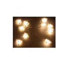 Guirnalda decorativa con 10 LED, luz blanca cálida