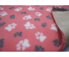 CRS Fur Fabrics Cama Profesional para Perro Veterinaria no Deslizante con diseño de Cachorro, para LG Paws, Color Negro