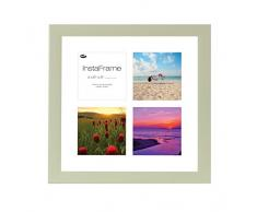 Inov8 16 x 40,64 cm Insta-Frame Marco para Instagram 4/de Estampado a Cuadros de Fotos con paspartú Blanco y Blanco con Borde, Heritage Verde