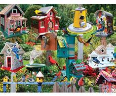 White Mountain Puzzles – Puzzle de 550 Piezas (X 24 Pulgadas, casa para pájaros Village