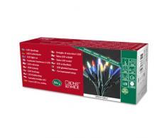 Konstsmide Next Generation - Guirnalda de 50 luces LED, luz blanca cálida, multicolor, 50 2.5|watts