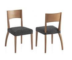 Bartali Pack Dos Fundas elásticas sillas Aitana - Color Gris - Tamaño (45 x 45 cm)