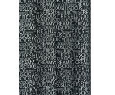 Spirella 10.16275 Creamy - Cortina (180 x 200 cm, textil), color negro