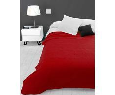 Soleil docre Adele - Manta para sofá, polialgodón, 220 x 240 cm, Color Rojo