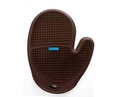 Silicone Zone 7702207 manopla para horno silicona marrón 25,5 cm x 19,5 cm x 2 cm