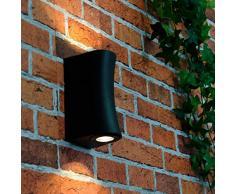 Calidad Lámpara LED de pared para exteriores (2 x 3 W, LED 230 V/IP54 Protección antisalpicaduras/Diseño Lámpara de pared para exterior Patio Jardín Iluminación
