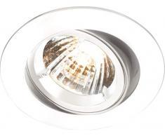 Knightsbridge IP20 230V/12V GU10/MR16 - Foco empotrable (inclinación y bloqueo, aluminio)